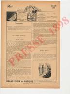 Presse 1898 Sport Toxophilie Tir à L'Arc M.G. De Lafrété Polo Bagatelle Ile Puteaux Chevaliers Papegeay (Papegay)223CH24 - Documentos Antiguos