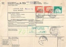 """Begleitadresse  """"Lonza, Basel"""" - """"Bosch, Gerlingen D""""           1973 - Brieven En Documenten"""