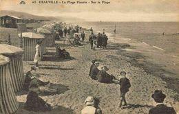 France Deauville La Plage Fleurie Sur La Plage Beach Promenade Postcard - France