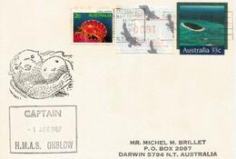 AUSTRALIA.  HMAS Onslow, Australian Oberon-class Submarine.Royal Australian Navy, Letter To Darwin - Militaria