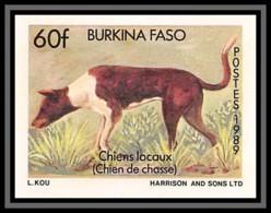 92759c Burkina Faso N° 809 Chien De Chasse 1989 Hunting Dog Non Dentelé ** MNH Imperf - Perros