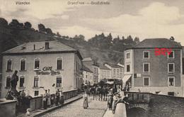 Photo: Vianden, Grand Rue, Grossstrasse, Café, Luxembourg, Photo D'une Ancienne Carte Postale, 2 Scans - Lieux