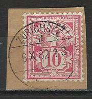 SBK 61A O Schiffspost Zürichsee - 1882-1906 Wappen, Stehende Helvetia & UPU