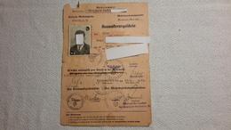 Ausmusterungsschein Krummau / Moldau 1943 Militär Schein - 1939-45