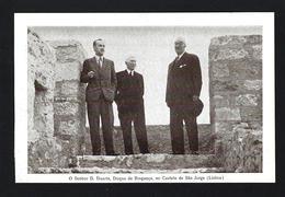 Postal D.DUARTE NUNO Duque De Bragança, Visita Castelo LISBOA 28 Maio 1942. Claimant Defunct Portuguese Throne PORTUGAL - Personalità