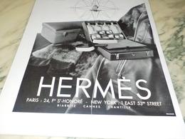 ANCIENNE  PUBLICITE COUVERTURES DE VOYAGE  HERMES   1931 - Habits & Linge D'époque