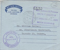 Belize Honduras Aerogramme 1963 O.H.M.S. - Honduras