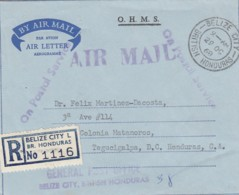 Belize Honduras Aerogramme 1968 O.H.M.S. - Honduras