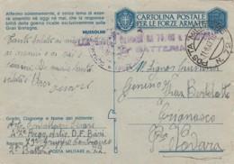 Italien Posta Militaire Zensur Postkarte 1940-45 Tekst Musolini - 1900-44 Victor Emmanuel III