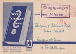 Deutsches Reich Werbung Postkarte 1941 - Unclassified