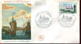 FDC Boulogne Sur Mer (62) - 8 Juil. 1967 - Leport De Pêche Au XVIIIéme Siècle - 1960-1969