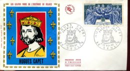 FDC Hugues Capet - Senlis (60) - 10 Nov. 1967 - 1960-1969