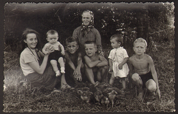 Boys And Girls Portrait Old Photo 9x14 Cm #30288 - Anonyme Personen