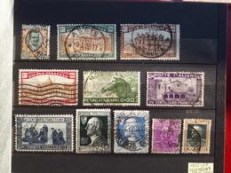 Timbres Italie 1923 -27 : 145, 163, 164, 165, 186, 188, 189, 196, 198, 207, 208 & - 1900-44 Victor Emmanuel III