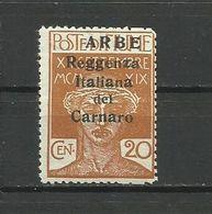 Fiume , ARBE 1920 - Mi. 22 II , MNH - 8. WW I Occupation