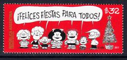 2017 Argentina Christmas Noel  Complete Set Of 1 MNH - Argentine