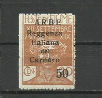Fiume , ARBE 1920 - Mi. 24 II, MNH - 8. WW I Occupation