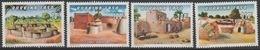 Burkina Faso 1995 Mi. A-D1356 Habitat Traditionnel Siedlung Settlements Architecture Architektur 4 Val. ** - Burkina Faso (1984-...)