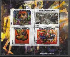 DOMINICAN REPUBLIC, 2019, MNH, ART, PAINTINGS, RAMÓN OVIEDO, SHEETLET - Art