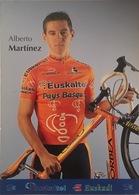Postcard Alberto Martinez (serie With Bicycle) -  Euskaltel - Euskadi  - 2002 - Ciclismo