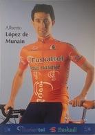 Postcard Alberto Lopez De Munain (serie With Bicycle) -  Euskaltel - Euskadi  - 2002 - Ciclismo