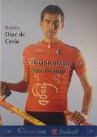 Postcard Ruben Diaz De Cerio (serie With Bicycle) -  Euskaltel - Euskadi  - 2002 - Ciclismo