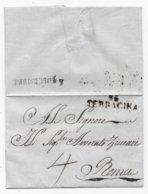 Département Conquis Italien Marque Postale 116/TERRACINA Sans Texte - Marcophilie (Lettres)