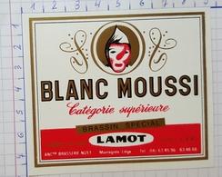 ETIQUETTE  BRASSERIE LAMOT MECHELEN  BLANC MOUSSI BRASSIN SPECIAL -2 - Bière