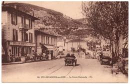 VILLEFRANCHE SUR MER C.1910-20 LA ROUTE NATIONALE F L FL Automobile - Villefranche-sur-Mer