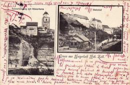 1200/ Gruss Aus Haigerloch Hoh. Zoll, Bahnhof, Tunneleingang Mit Romerturm 1904 - Haigerloch
