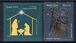 2016 Brazil Christmas Noel  Complete Set Of 2 MNH - Brésil