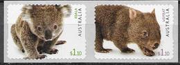 AUSTRALIA, 2020, MNH, AUSTRALIAN FAUNA, KOALA , WOMBATS, 2v S/A - Orsi