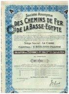 Titre Ancien - Société Anonyme Des Chemins De Fer De La Basse Egypte - Obligation De 250 Francs - Titre De1934 - N° 3770 - Railway & Tramway