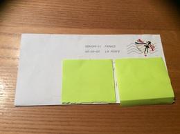 Lettre Avec Oblitération Mécanique Sur Timbre Coeur «Guerlain» - Briefe U. Dokumente