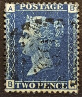 GREAT BRITAIN 1869 - Canceled - Sc# 30 - 2d - Plate 14 - Used Stamps