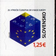 2018 Slovakia 25th Anniversary Slovak Membership At European Council S.adhesive MNH** Europa CEPT Hang On Issue - Ungebraucht