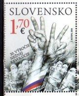 2019 Slovakia 30th Anniversary Of Velvet Revolution Joint Issue With Czech MNH** Flag, Police, Iron Curtain - Gemeinschaftsausgaben