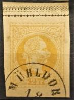AUSTRIA 1868 - MÜHLDORF Cancel On Postcard 2kr - Used Stamps