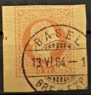 AUSTRIA 1876/80 - BASEL Cancel (1884) On Postcard 5kr - 1850-1918 Keizerrijk