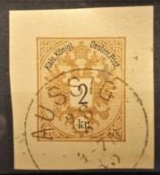 AUSTRIA 1883 - AUSSIG Cancel On Postcard 2kr - Used Stamps