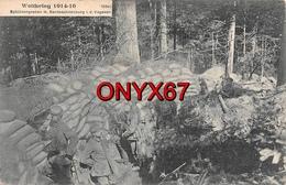 Tranchée Guerre 1914-1918 Soldat Militaire Allemand Massif Des Vosges Haut-Rhin Schützengraben Vogesen Weltkrieg - Weltkrieg 1914-18