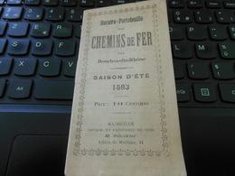 1893 HORAIRES PORTEFEUILLE DES CHEMINS DE FER DES BOUCHES DU RHÔNE SAISON D' ETE 1893 34 PAGES - Marseille