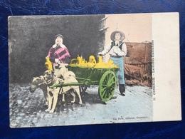 """Ostende-""""Laitière Flamande Avec Attelage De Chien """" (2163)--1906 - Artisanat"""