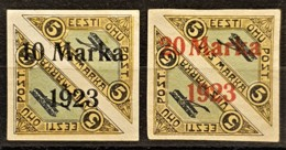 ESTONIA 1923 - MLH - Sc# C4, C5 - Air Mail 10m/5m 20m/5m - Estland