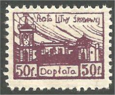 576 Litwa Taxe 50f Mining Coal Charbon Mines (LIT-32) - Lituanie