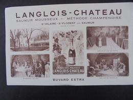 BUVARD - MAINE ET LOIRE - LANGLOIS-CHATEAU, SAUMUR MOUSSEUX;;;GRAND FORMAT - Buvards, Protège-cahiers Illustrés