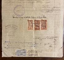 Documento Procuração Do BRASIL / Estado Do MARANHÃO, 8 Selos Fiscais CONSULADOS Portugal. Revenue Stamps Consulates 1919 - Fiscaux