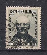 ITALIA 1952 A.MANCINI SASS. 703 USATO VF - 1946-.. République