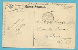 Kaart YPRES Met Stempel TRESOR Et POSTES Op 23/10/1914 !!  (OCTOBRE 1914) - Not Occupied Zone