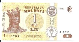 MOLDAVIE 1 LEU 2010 UNC P 8 H - Moldova